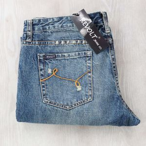 Revolt Jeans Co. Distressed Flair Jeans